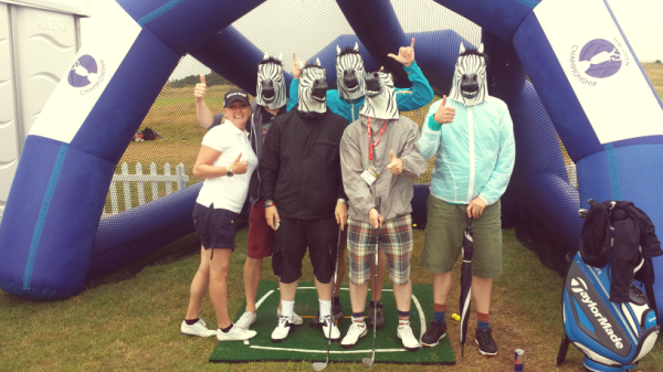 Me and a bunch of Zebras at THE OPEN 2014?!?!